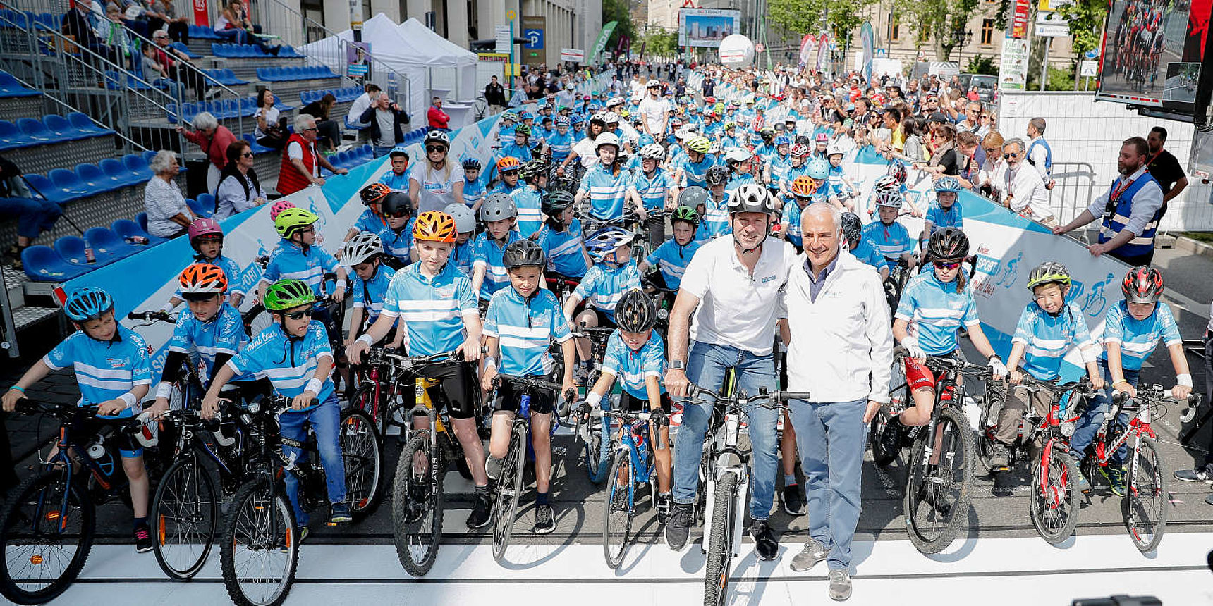 kinder+Sport mini tour Bike Parade