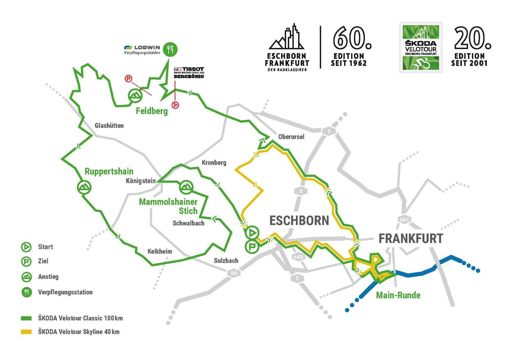 Streckenkarte ŠKODA Velotour 2021